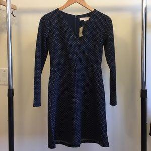 NWT LOFT Petite Geo Jacquard Knit Wrap Dress OP